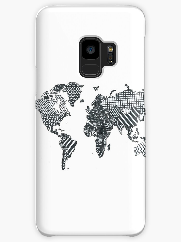 Patterned World Map Cases Skins For Samsung Galaxy By Luckylucy