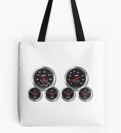 Racing Gauges Tote Bag