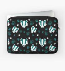 Badger prints in teal Laptop Sleeve