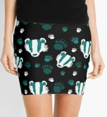 Badger prints in teal Mini Skirt