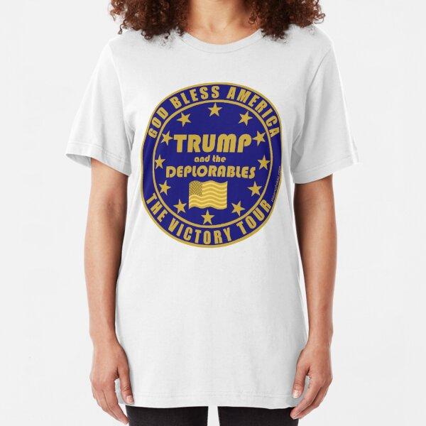 Trump And The Deplorables Victory Tour Pro Donald Trump Slim Fit T-Shirt