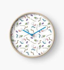 Pastel Rainbow Bacteria  Clock