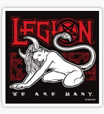 LEGION - Kneeling Devil Girl Sticker Sticker