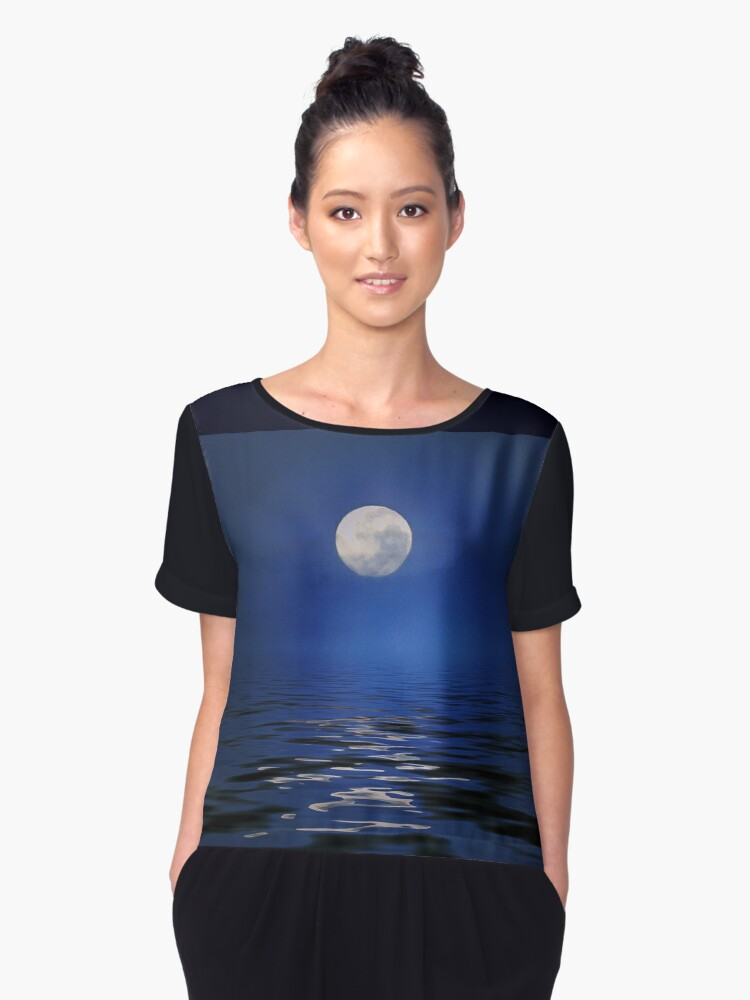 Ole To the Moon Women's Chiffon Top Front