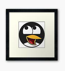Linux Happy Penguin  Framed Print