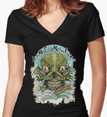 Cthulhu MothaFuckas Women's Fitted V-Neck T-Shirt
