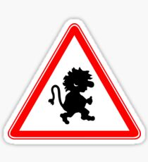 Beware Of Trolls Warning Sign Sticker