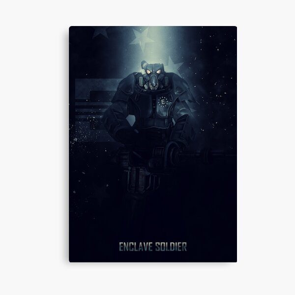 Enclave Soldier Canvas Print