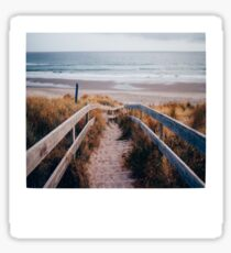 Pegatina Playa Polaroid