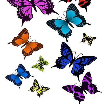 Beautiful colourful swarm of butterflies by markstones