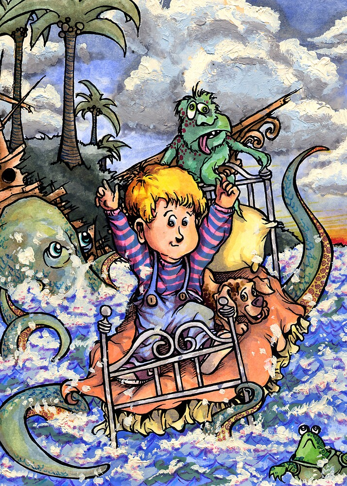 Sailing the Crazy Bed Boat Through Craziness. (Which is pretty crazy) by Steven Novak