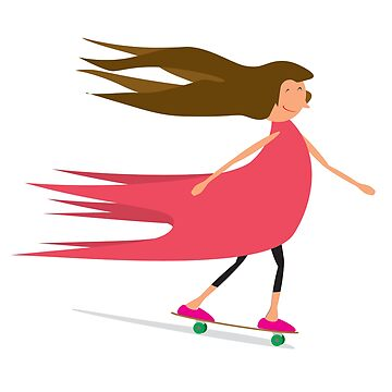 Girl Skateboarder by CLIFFBLACK
