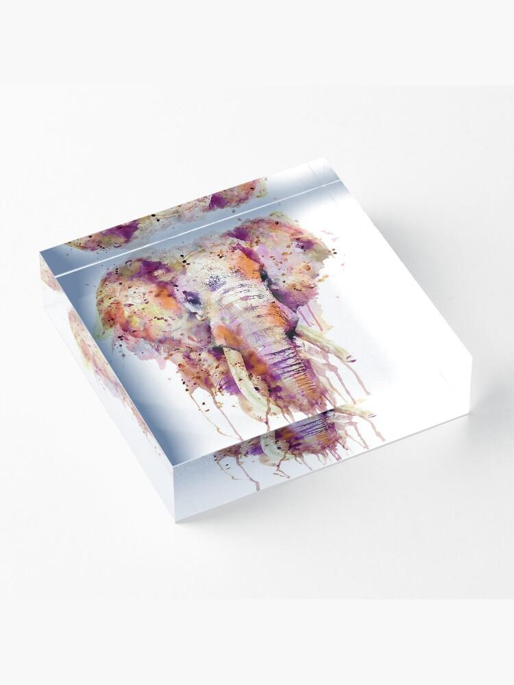 Alternate view of Elephant  Acrylic Block