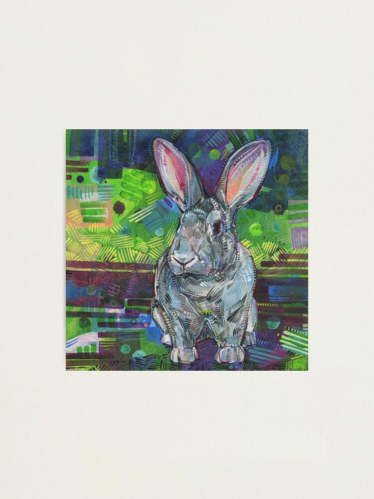 Alternate view of Giant Chinchilla rabbit painting - 2017 Photographic Print
