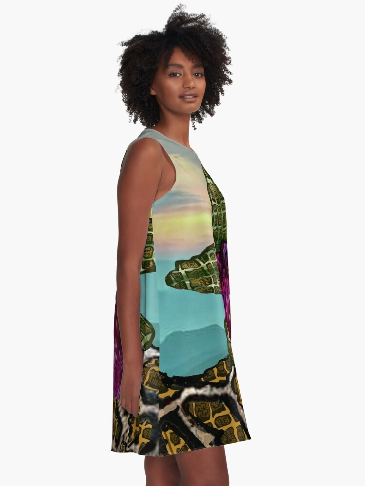 Alternate view of Sunset  A-Line Dress
