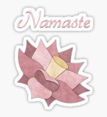 Namaste Pink Lotus Flower Sticker