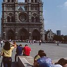 Facade of Notre Dame Paris 19840818 0029  by Fred Mitchell