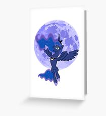 my little pony luna raises the moon Greeting Card