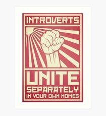 Lámina artística Introvertidos - ¡Únete! Por separado ... En casa ...
