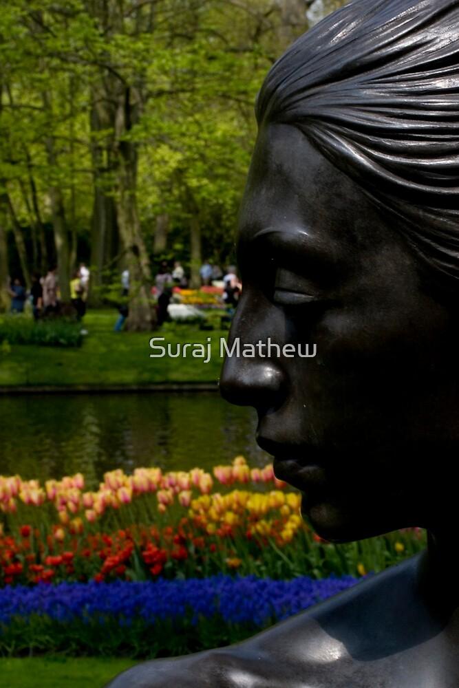 Lady at the Keukenhof 2 by Suraj Mathew