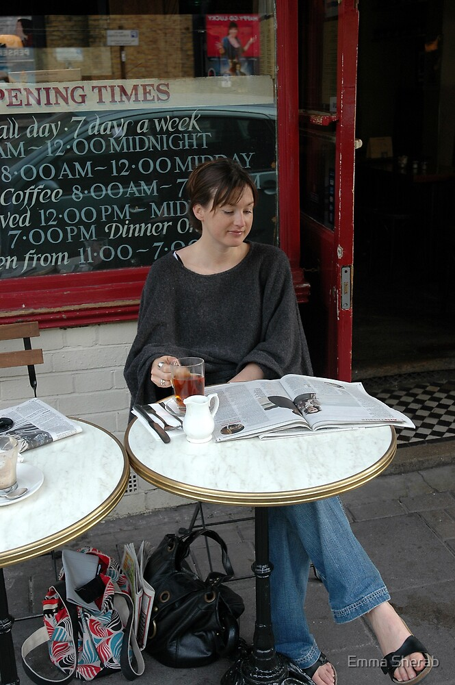Coffee and croissants by Emma Sherab