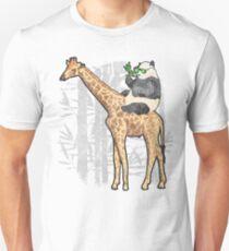 Panda Riding Giraffe Shirt - Funny Panda Bear Riding a Giraffe  T-Shirt