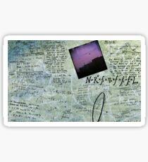 Time Travel Notes - Drake Equation Sticker