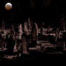 Mond über dem Friedhof von Evita