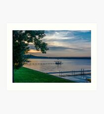 Saratoga Lake Art Print