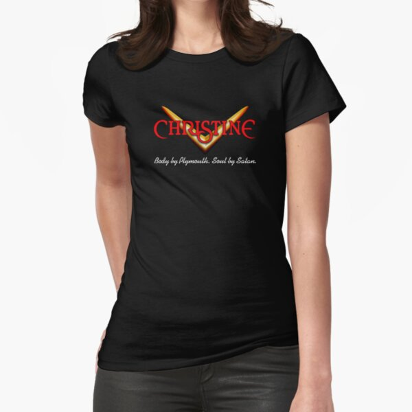 CHRISTINE Badge Fitted T-Shirt