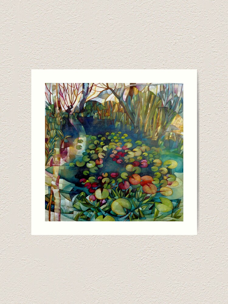Alternate view of water lillies Art Print