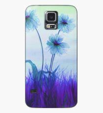 Translucent Blue Daisies Case/Skin for Samsung Galaxy
