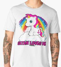 Satan Loves Me Shirt - Funny Satanic, Funny Occult Design, T-Shirt  Men's Premium T-Shirt