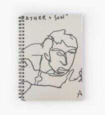 father + son Spiral Notebook