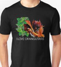 POI - I Love orangutans Unisex T-Shirt