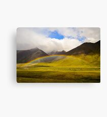 Rainbow over the Brooks Canvas Print