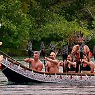 Māori/Tlinget Canoe on the Yukon River by Yukondick