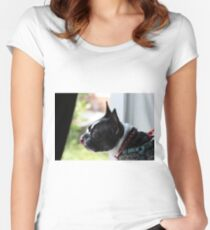 Boston Terrier Women's Fitted Scoop T-Shirt