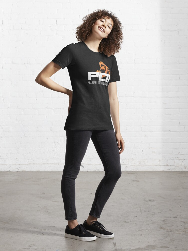 Alternate view of POI - Palm oil investigations logo orange Essential T-Shirt