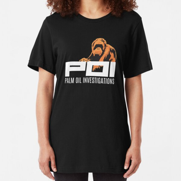 POI - Palm oil investigations logo orange Slim Fit T-Shirt