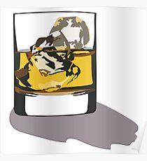 Whisky Glas Aufkleber Poster