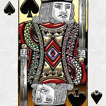 King of Spades over White Leather by Captain7