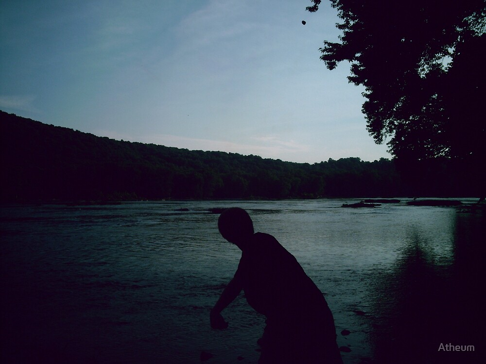 Throwing a Rock into the River of Time by Atheum