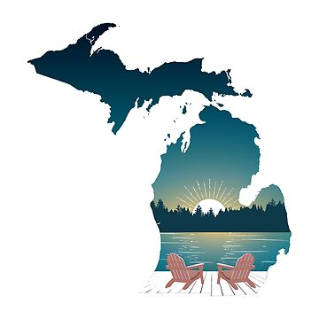 Puesta de sol de Michigan de GreatLakesLocal