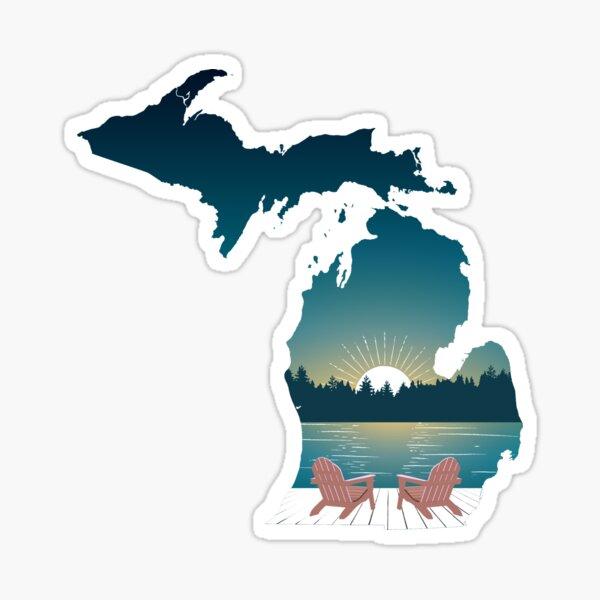 Michigan Sunset Sticker