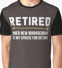 Retired Under New Management Shirt Retirement 2017 T-Shirt For Grandpa and Grandma Graphic T-Shirt