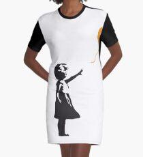 Bitcoin Balloon Girl - Banksy Loves Bitcoin Series (the ORIGINAL design) Graphic T-Shirt Dress