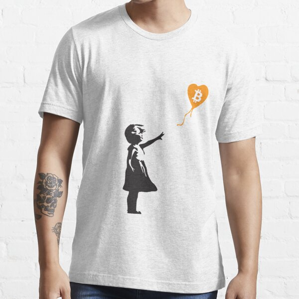 Bitcoin Balloon Girl - Banksy aime la série Bitcoin (le design ORIGINAL) T-shirt essentiel