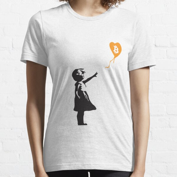 Bitcoin Balloon Girl - Banksy Loves Bitcoin Series (the ORIGINAL design) Essential T-Shirt