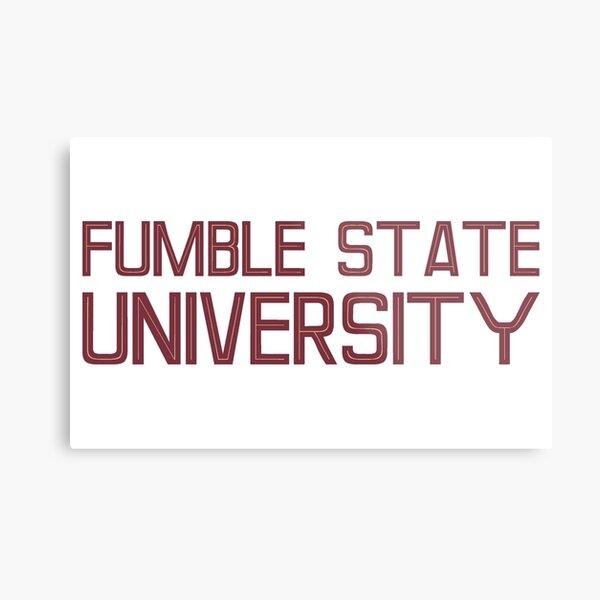 Fumble State University Metal Print